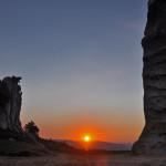 L'Orante al tramonto