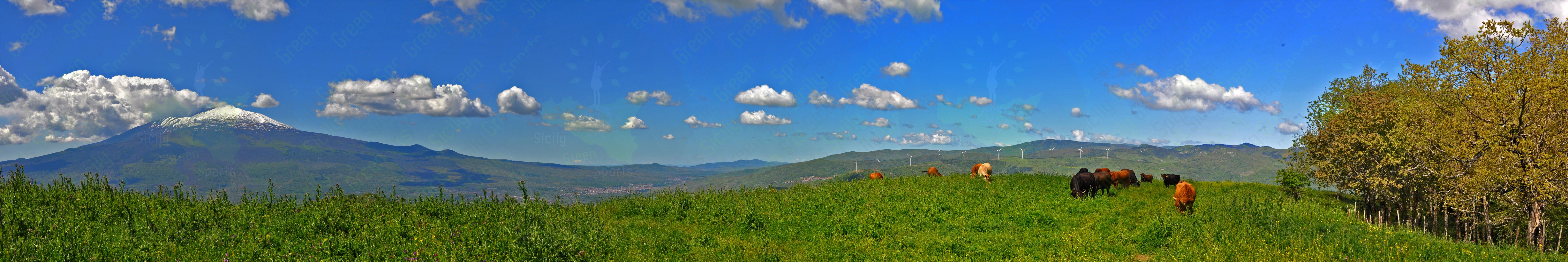 panorama sulla etna e l 'alta valle alcantara
